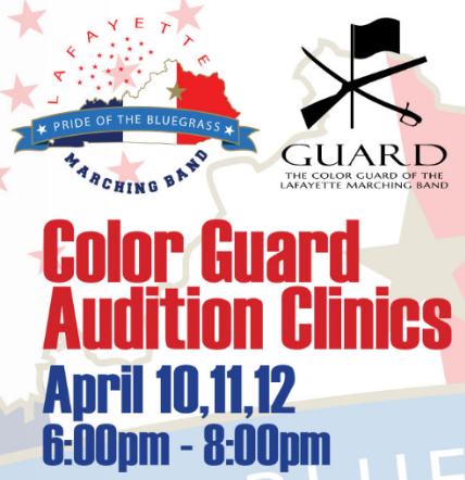 Color Guard Auditions and Clinics