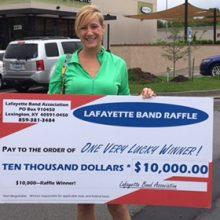 Kelly wins $10,000 raffle